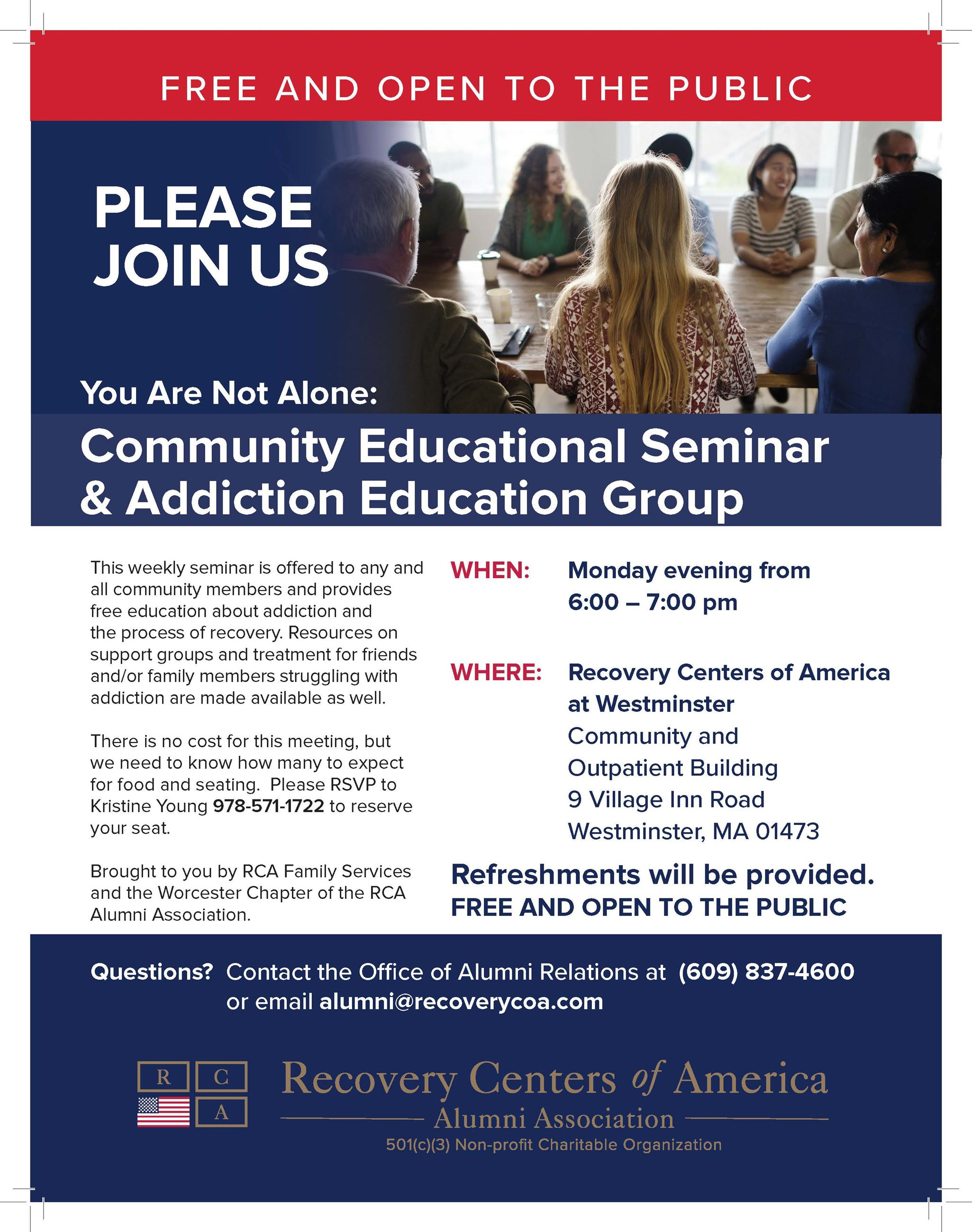 Community Education Seminar and Addiction Education Group