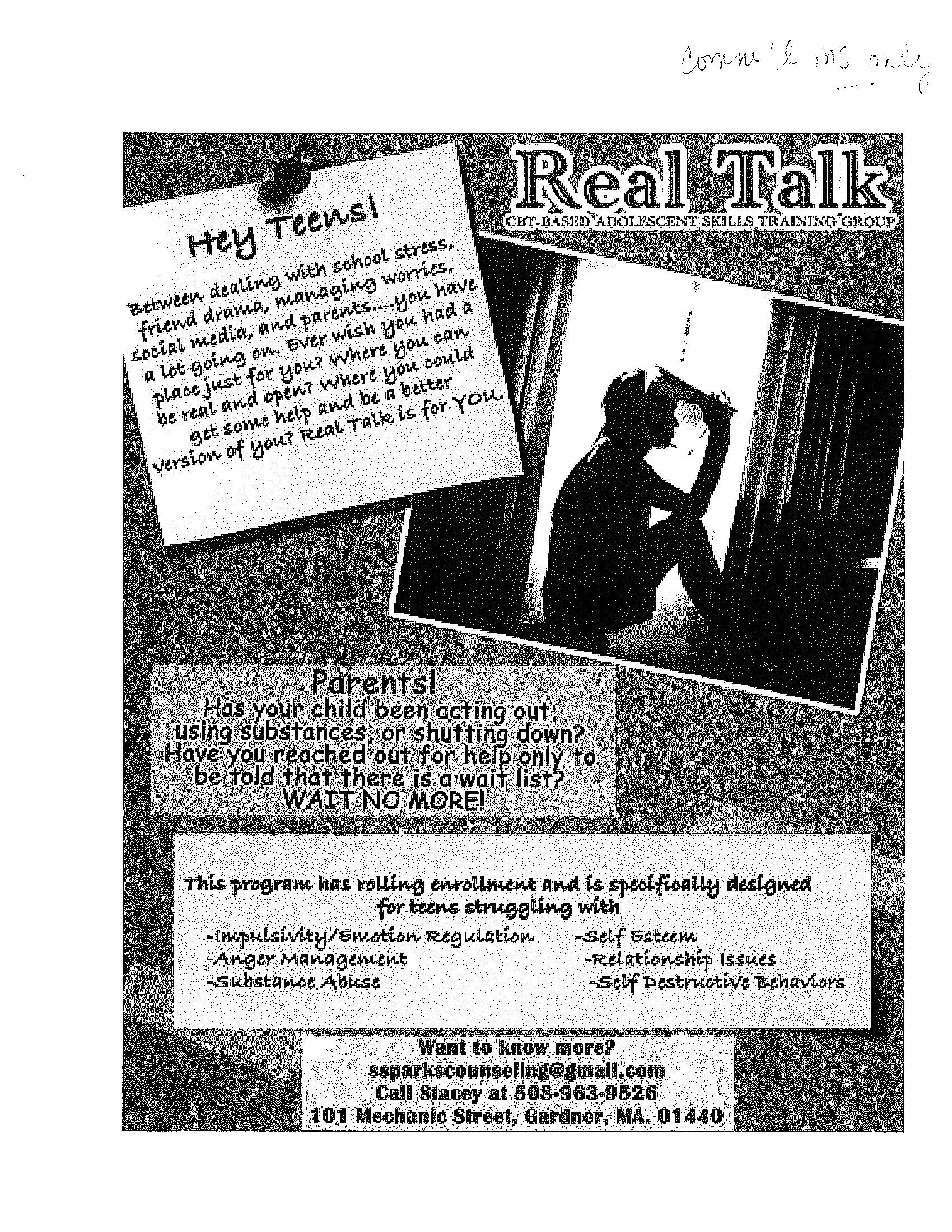 Real Talk Adolescent Group Jan 2019